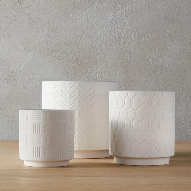 ceramic planters   CB2