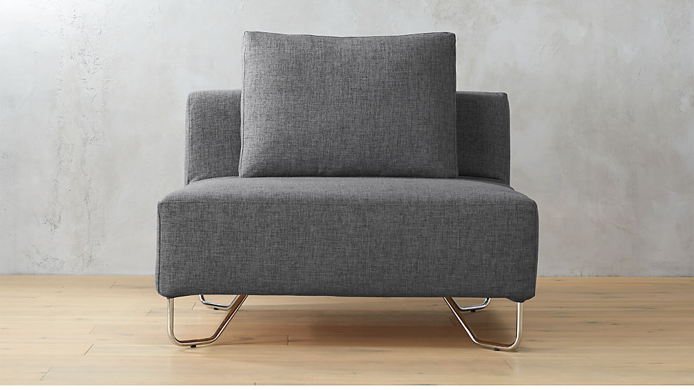 lotus grey armless chair