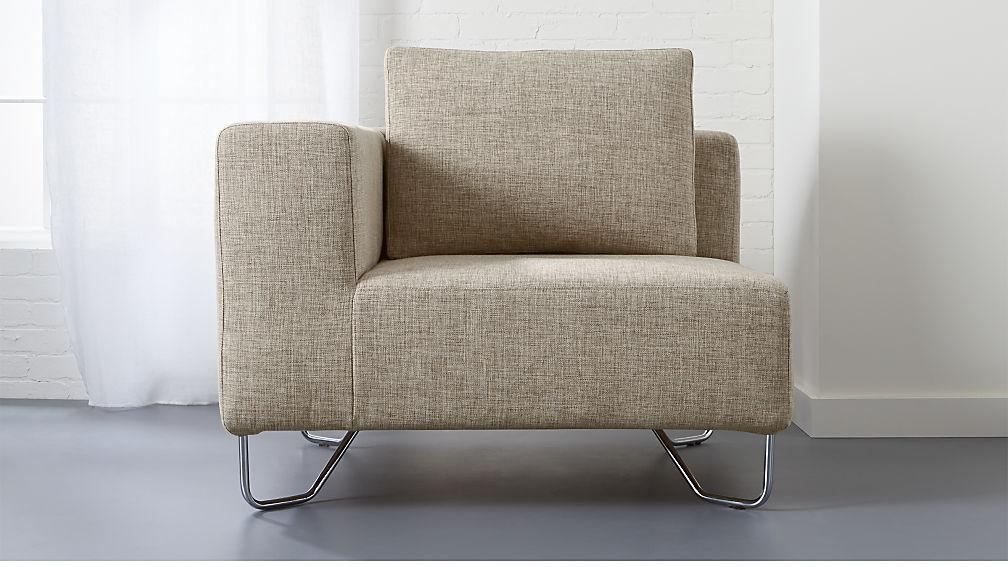 lotus natural corner chair. lotus natural corner chair   CB2