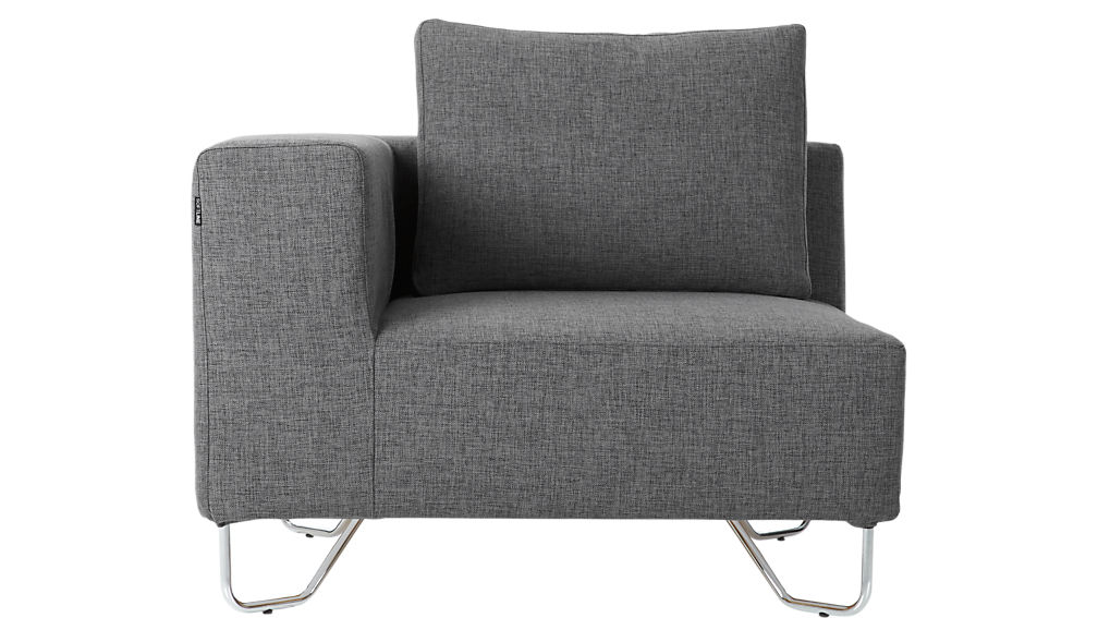 Grey Sectional Couches lotus grey 3-piece sectional sofa | cb2