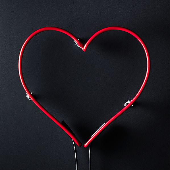 LovesNeonHeartRedSHF17