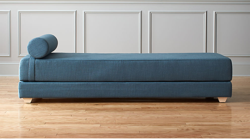 Lubi Blue Daybed Sleeper Cb2