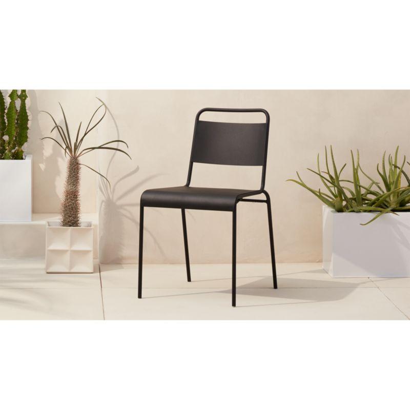 lucinda black stacking chair CB2