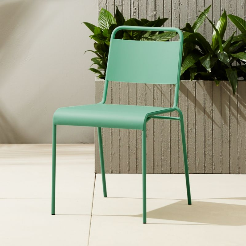 Superior Lucinda Mint Stacking Chair