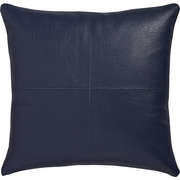"16"" mac leather pillow"
