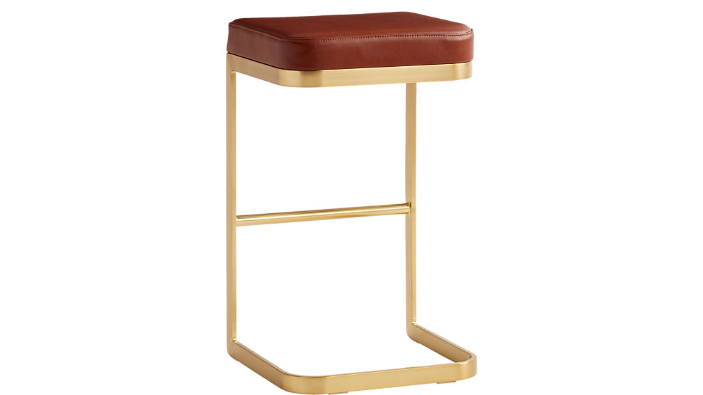"mack leather 30"" bar stool"