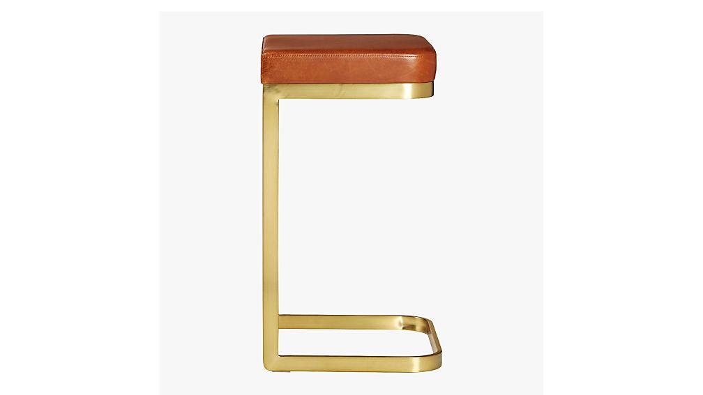"mack leather 30"" bar stool"