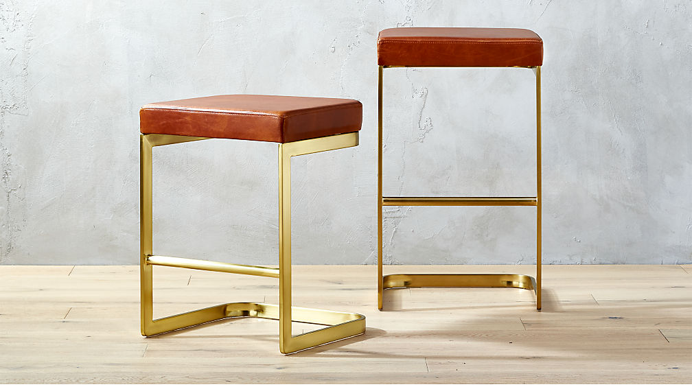 & mack leather bar stools | CB2 islam-shia.org