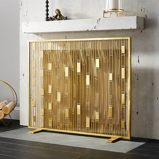 Maclyn Brass Fireplace Screen