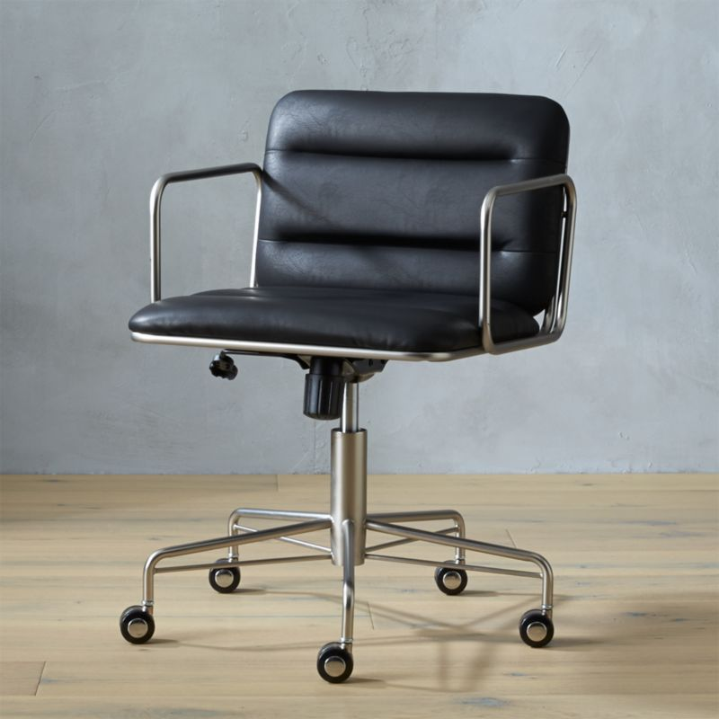 mad black office chair cb2