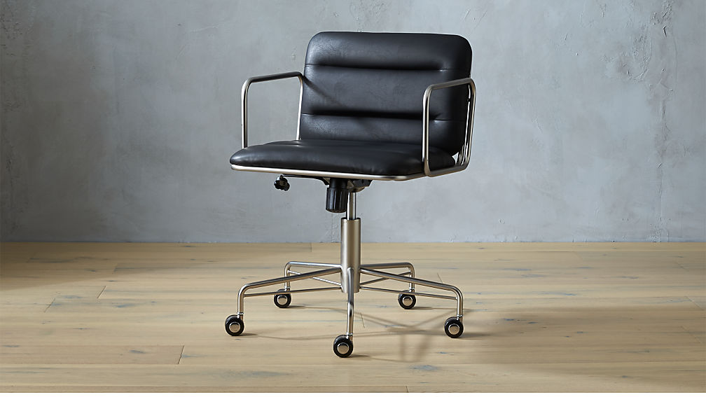 mad black office chair | cb2