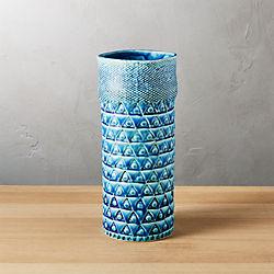 madison blue vase