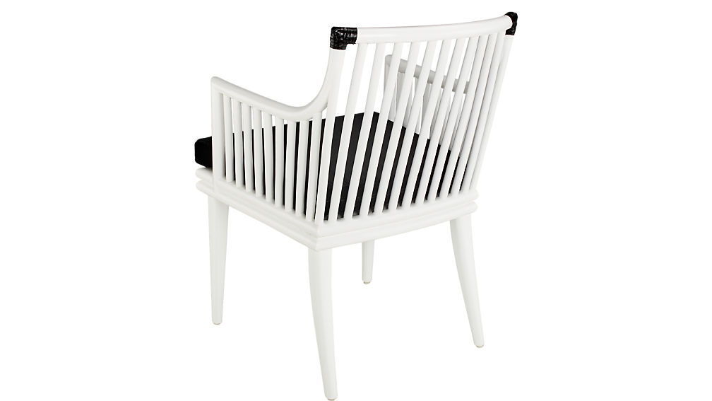 Mae White Rattan Chair