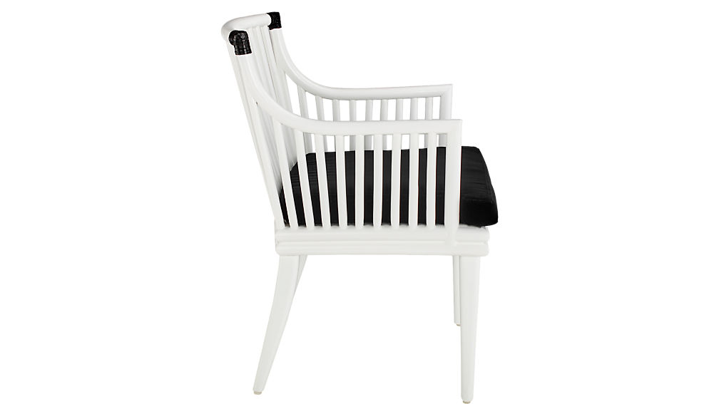 Mae White Rattan Chair