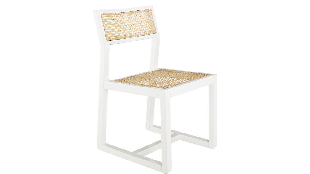 Makan Wood and Wicker Chair