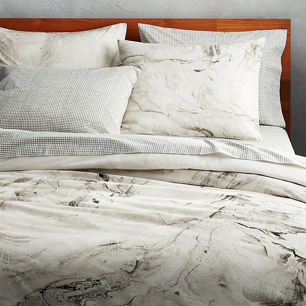 marbleized full/queen duvet cover