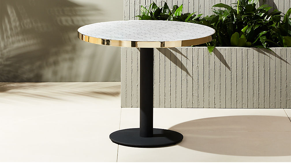 Marvelous Marble Outdoor Bistro Table ...