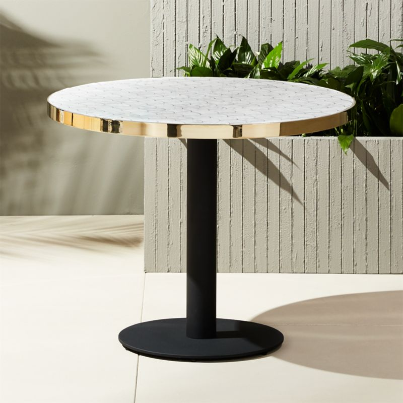 Bistro Marble Outdoor Table Reviews Cb2