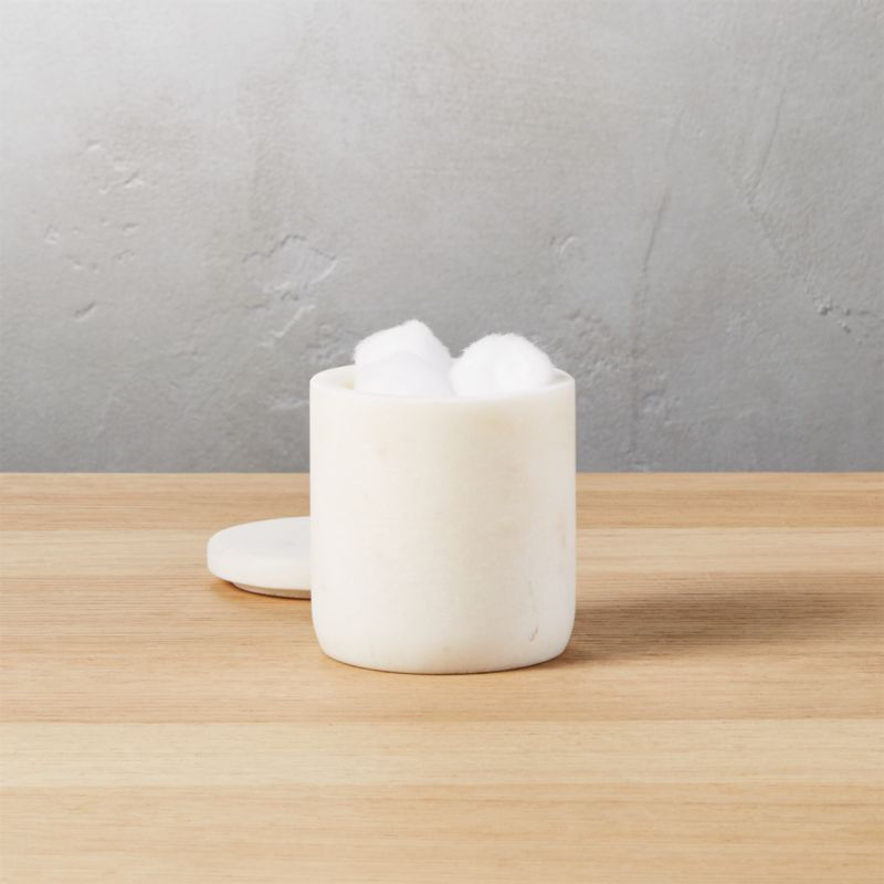 small marble canister