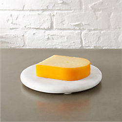 round marble cheese server