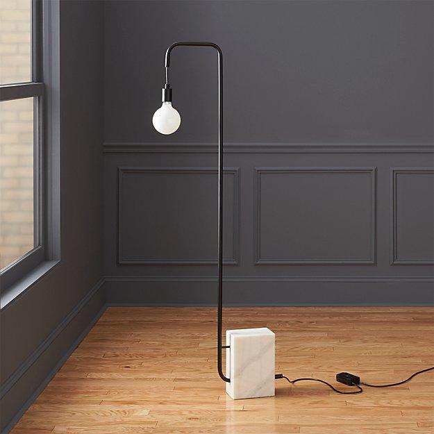marble floor lamp in floor lamps + Reviews | CB2