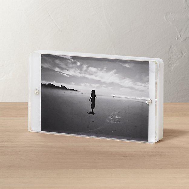 marble 4x6 picture frame cb2. Black Bedroom Furniture Sets. Home Design Ideas