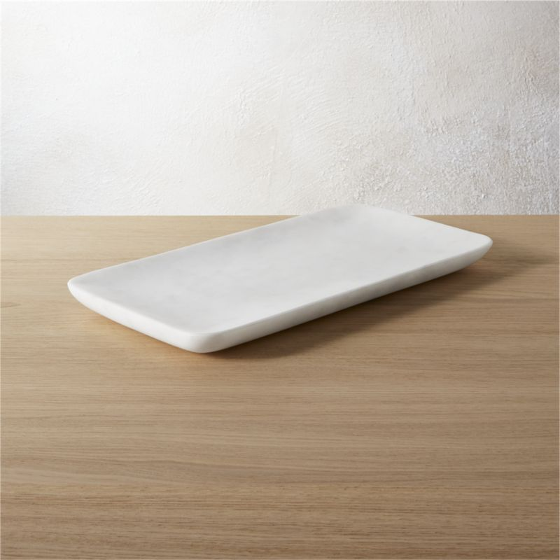 Marble tank tray in bath accessories reviews cb2 for Bathroom accessories with tray