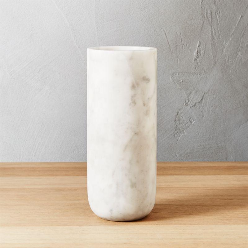 Modern Vases CB - Cylinder floor vase silver