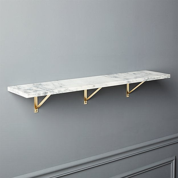 Marble Wall Mounted Shelf 36 Quot Reviews Cb2
