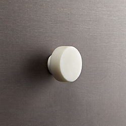marble white disk drawer pull