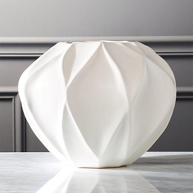 Margo White Oval Vase