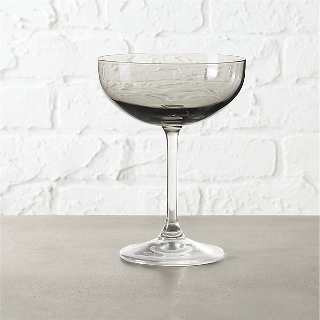 marie coupe smoke grey cocktail glass