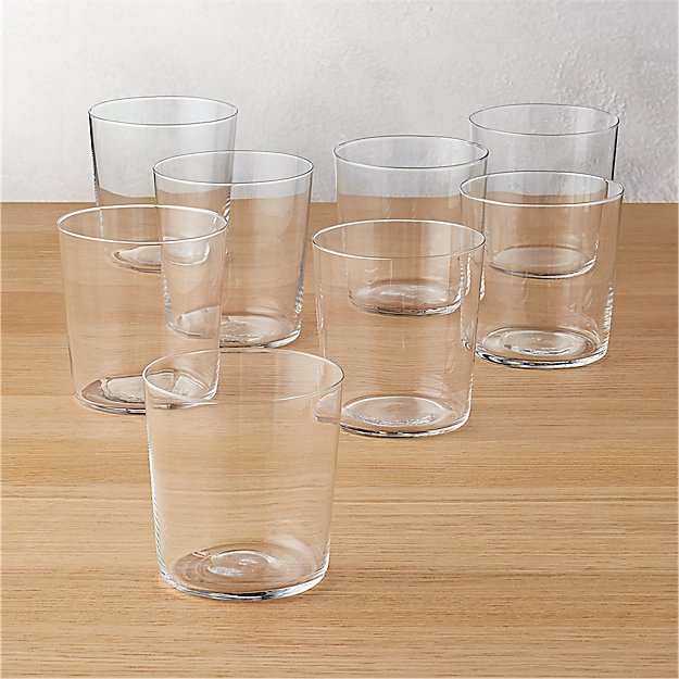 set of 8 marta double old-fashioned glasses