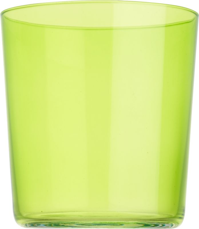 """<span class=""""copyHeader"""">color pop.</span> Our popular Marta glass makes a splash in bold, brilliant green. Stylish, micro-thin and tinted with a translucent pop of color, it's a bright way to rock anything on the rocks.<br /><br /><NEWTAG/><ul><li>Green-tinted glass</li><li>Dishwasher-safe</li></ul>"""