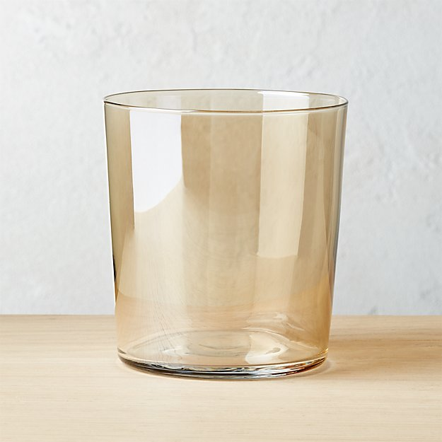 Marta Gold Luster Double-Old Fashioned Glass