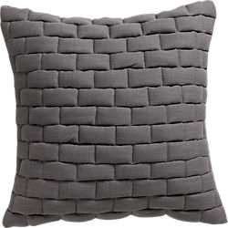 "18"" mason quilted grey pillow"