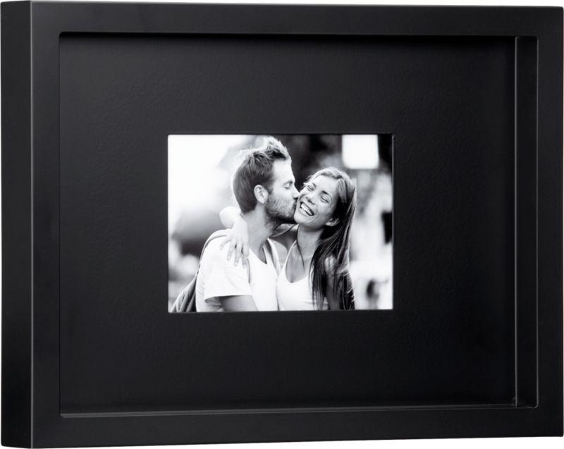 black matte 5x7 picture frame