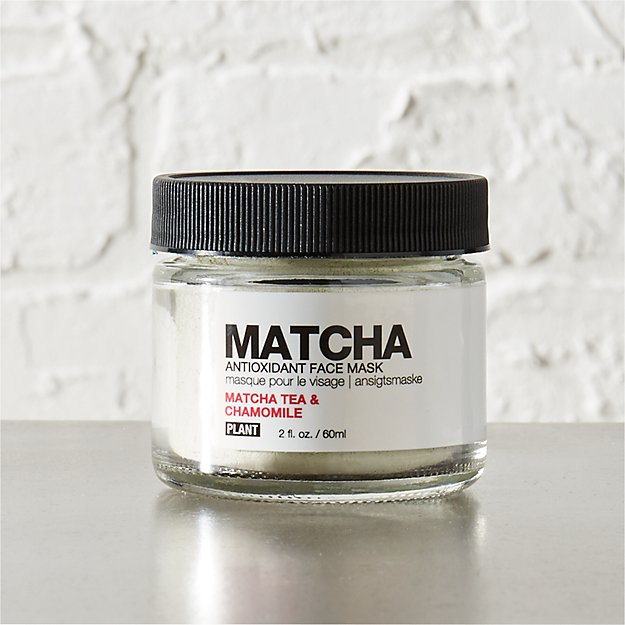 PLANT matcha tea and chamomile face mask