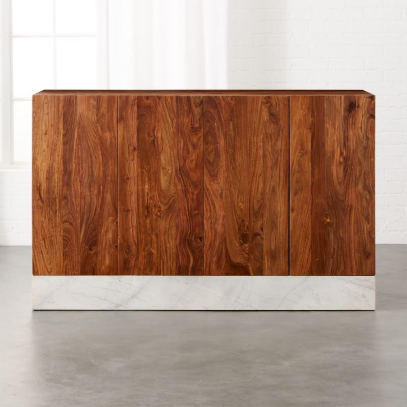 Mateo Marble Credenza. Modern Media Consoles  Credenzas and Cabinets   CB2
