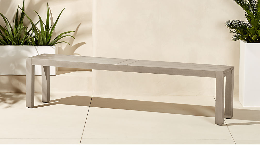 matera large grey dining bench