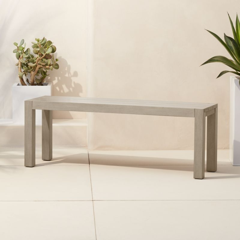 Ottoman Coffee Table Cb2: Matera Minimalist Wood Bench In Benches + Reviews