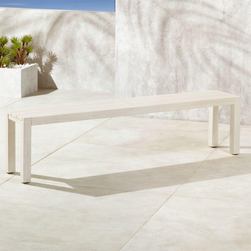 whitewash outdoor furniture. Matera Whitewash Large Dining Bench Outdoor Furniture