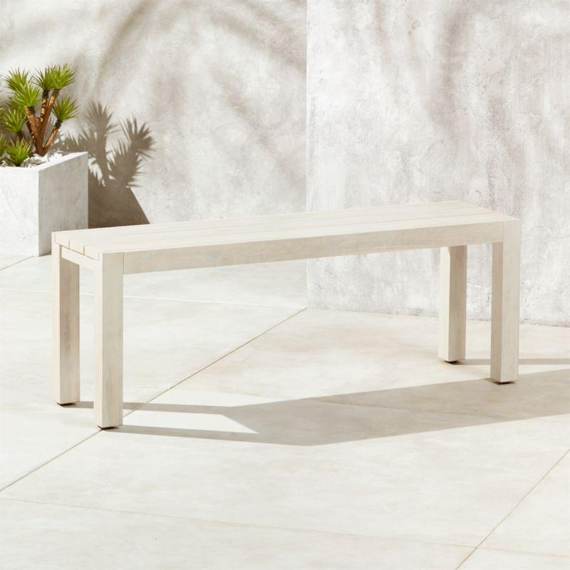 whitewash outdoor furniture. Matera Whitewash Dining Bench Outdoor Furniture