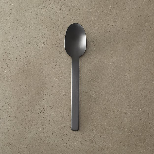 mini matte black spoon