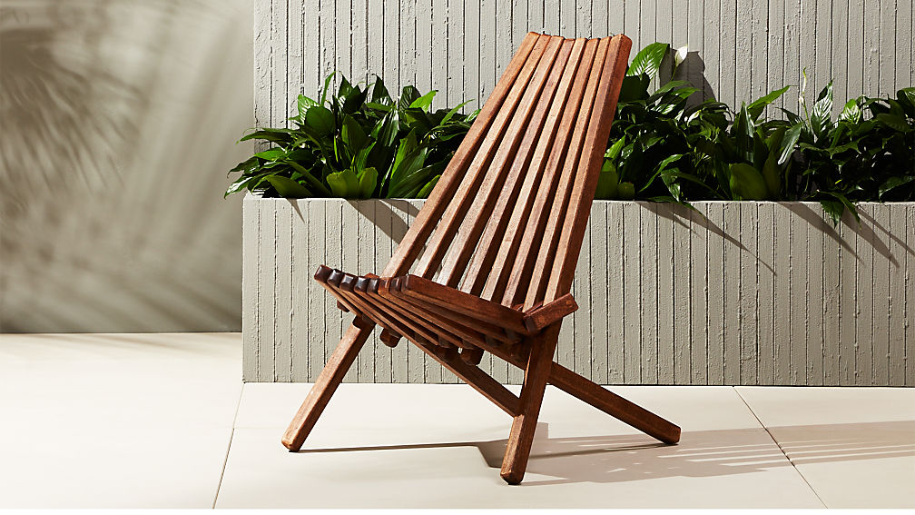Maya Outdoor Wooden Chair Cb2