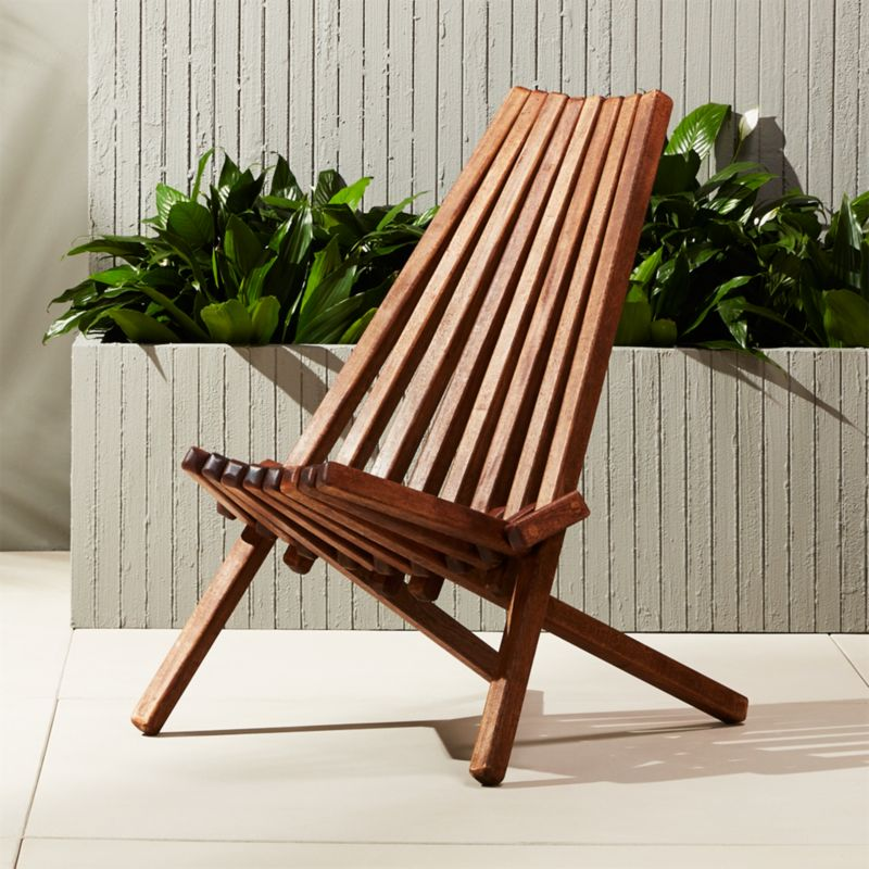 Maya Outdoor Wooden Chair | CB2