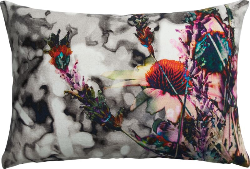 "meadow 18""x12"" pillow with feather-down insert"