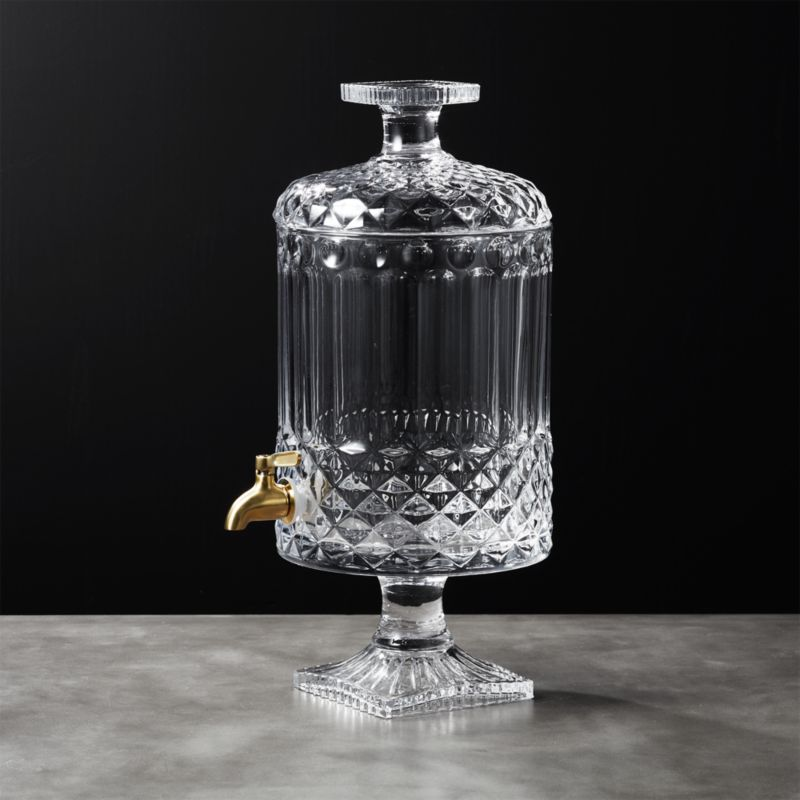 Mellie Glass Beverage Dispenser by Crate&Barrel