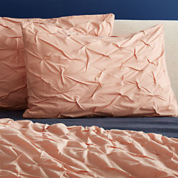 set of 2 dusty pink melyssa standard shams