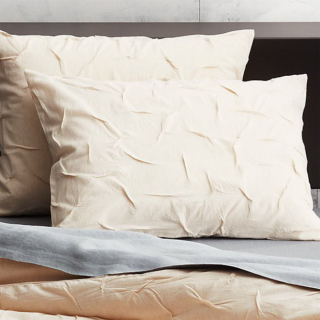 set of 2 melyssa natural standard shams